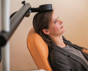 picture of person getting tms treatment